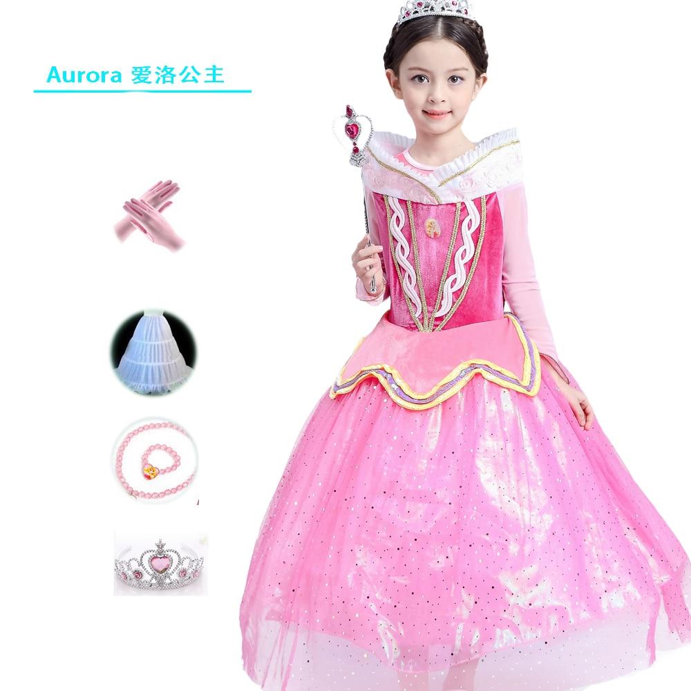 Primavera princesa Bella Durmiente vestidos para las muchachas ...