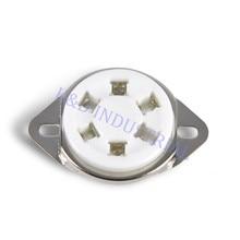 где купить 10pcs 6 Pin Ceramic Vacuum Tube Socket Top for 310 Valve Base DIY Audio Amp дешево