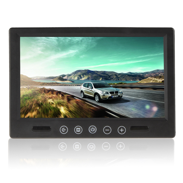 Brand New Super 9 Inch Remote Control TFT LCD Car Monitor Color Screen Car Rear View Monitor With 2 Video Input