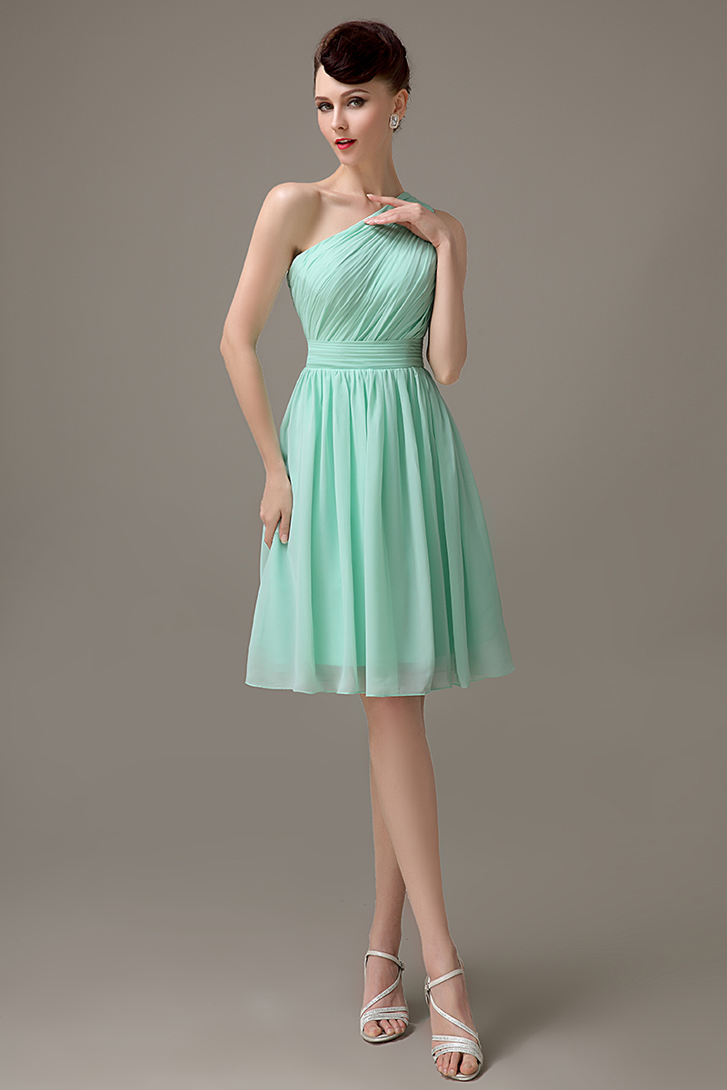 Online buy wholesale junior bridesmaid dress green from china mint green chiffon short one shoulder bridesmaid dress simple cheap junior customized bridesmaid dress for girls ombrellifo Choice Image