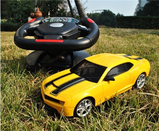 2016 new gift child kids electric toy rc car bumblebee remote control automobile toys high speed