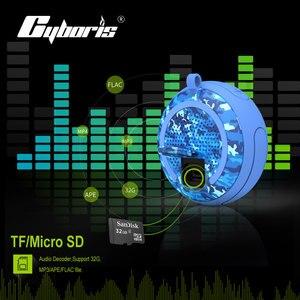 Image 3 - Cyboris מים צף IPX7 עמיד למים 5W חיצוני Bluetooth רמקול TWS שחייה נייד מיני רמקולים אלחוטי עם מיקרופון/TF/Aux