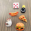 Free shipping Custom style fashion lovely girl brooch Original cute version required Hamburger pizza hot dog series brooch