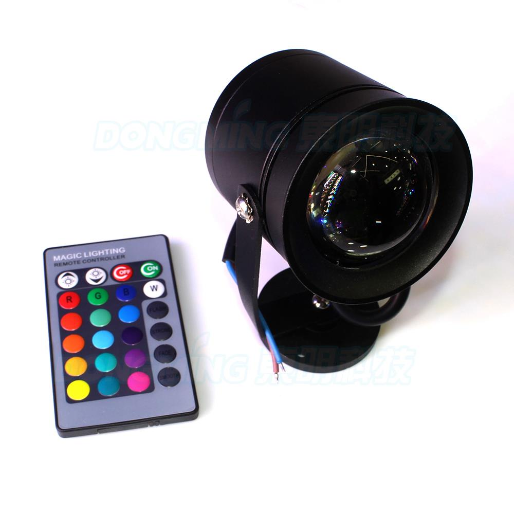 Black Convex Lens RGB underwater pool lights12V IP68 + 24 Key Controller Swimming rgb pool lights 10W led underwater light