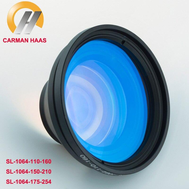 CARMANHAAS chine 1064nm Fiber Laser Scanner F Theta lentille de balayage pour Machine de marquage Laser 110*110mm 150*150mm 175*175mm