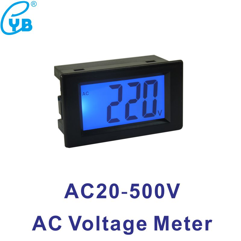 D85 Digital Voltage Meter AC20 500V LCD Display AC