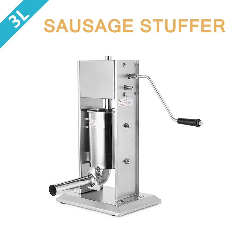 3L Sausage Stuffer Filler Vertical Stainlesss Steel Salami Maker Meat Maker Machine food processor 3l big sausage maker manual sausage stuffer machine fast delivery making filling vertical sausage filler