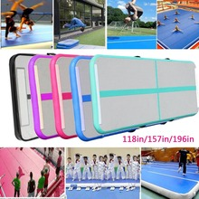 3/4/5m Airtrack trampoline Wear-resistant Inflatable Bouncer Yoga Mattress/ pump for Home/Training/Cheerleading/Beach