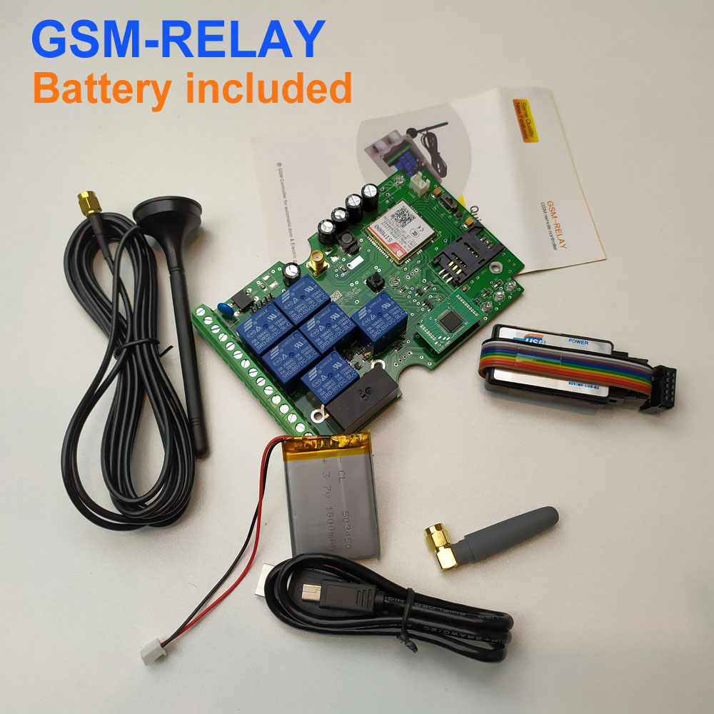 Free shipping New version Seven relay output GSM remote control board with iPhone and android app support image