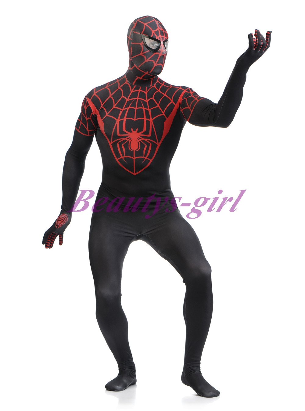 Utimate Black Red Zentai Spiderman Suit Full Body Lycra Unitard Spiderman  Spandex Suit Adult Spiderman Suit-in Zentai from Novelty & Special Use on  ...