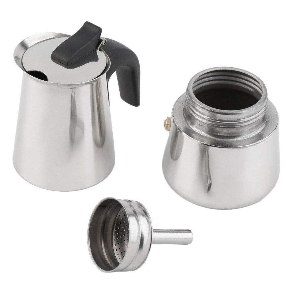 2/4/6 Cups High Quality Moka Coffee Kettle Maker/moka Pot,Espresso Kettles Coffee Makers Pot Stainless Steel Moka Coffee Machi