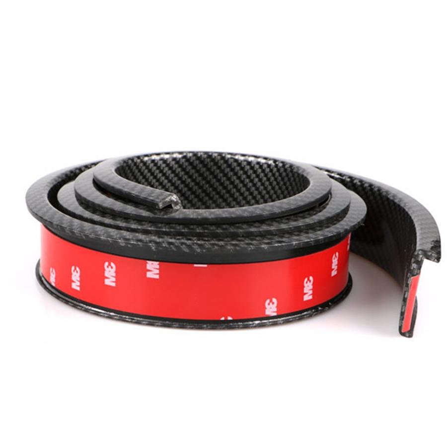 2X 150cm Car Fender Flare Wheel Eyebrow Protector Lip Wheel arch TrimProtector Lip Carbon Fiber or Black Color 4.5CM Width