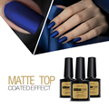 Azure beauty 8 ml matt fosco top coat unha gel polonês da arte do prego Top Coat Gel Lacas Mate de Longa Duração Led UV Unhas de Gel Cola