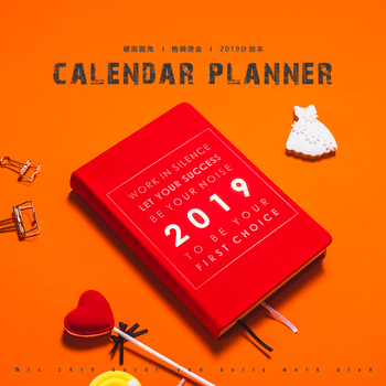 LANCOME 2019 Schedule Notebook Custom Notebook Calendar Notebook Timeline Efficiency Manual Notebook 1PCS image