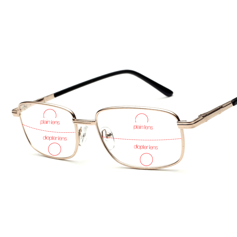 Rimless Bifocal Glasses : Rimless Bifocal Reading Glasses Men Slim Eyewear For ...