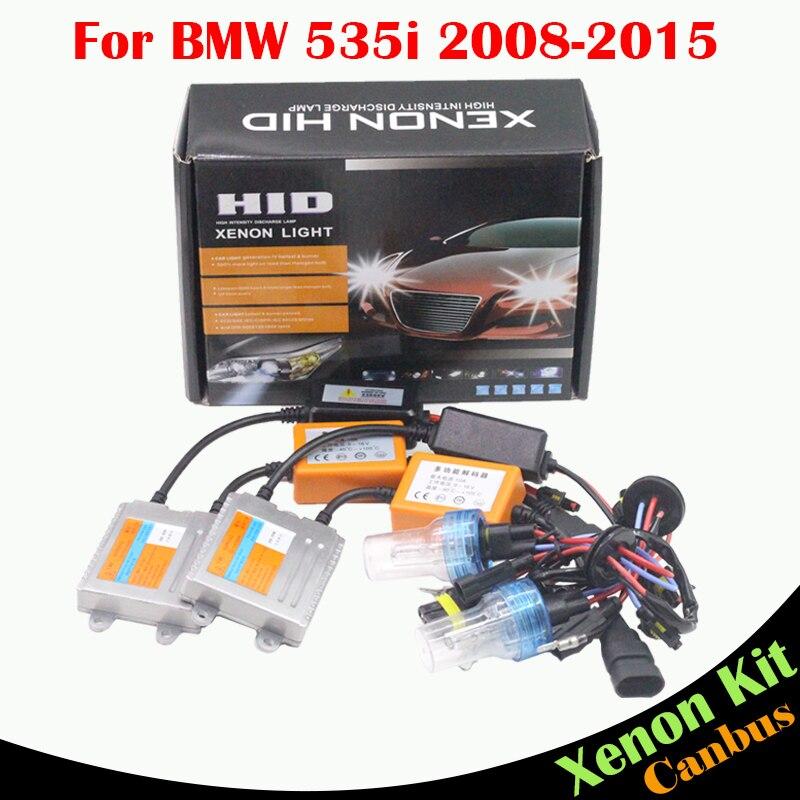 ФОТО Cawanerl For BMW 535i 2008-2015 Car Light 55W H7 HID Xenon Kit AC No Error Ballast Bulb 3000K-8000K Vehicle Headlight Low Beam