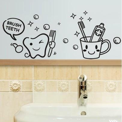 Creatieve grappige Muurstickers Badkamer Glazen Deur Stickers Leuke ...