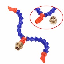 Flexible Oil Coolant Pipes Y Fitting Nozzle Plastic Cooling Adjustable Loc Line 1/2″ 12.5mm with Hose for Lathe Machine Mayitr