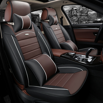 WLMWL Universal Leather Car seat cover for BYD all models FO F3 SURUI SIRUI F6 G3 M6 L3 G5 G6 S6 S7 E6 E5 car styling Car seat