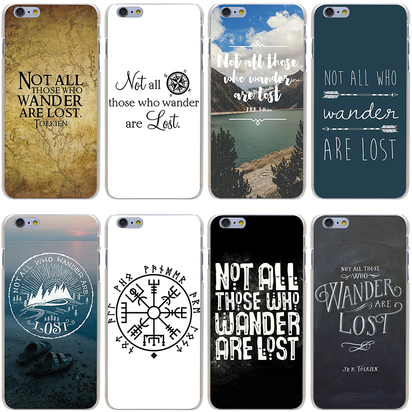 Not All Those Who Wander Are Lost Hard Transparent Cover Case for iPhone 7 7 Plus 6 6S Plus 5 5S SE 5C 4 4S