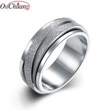 High Quality 8MM Wide Silver Color Stainless Steel Engagement & Wedding Band Rings for Women Jewelry Accessories USA Size 6-9