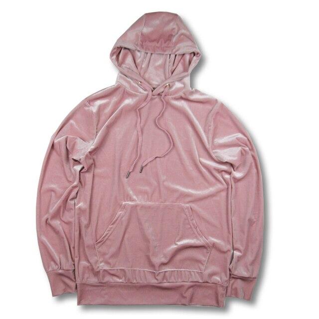 fc1d530f3 2018 velvet new design Cashmere wool hoodie Sweatshirts men pink fashion  sweatshirts casual pullover Streetwear Clothing
