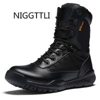 NIGGTTLI US Army Male Combat Shoes Men S Tactical Boots Autumn And Winter Desert Boots For