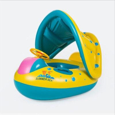 Bébé piscine bébé natation flotteur enfants gonflable siège de natation yacht avec corne