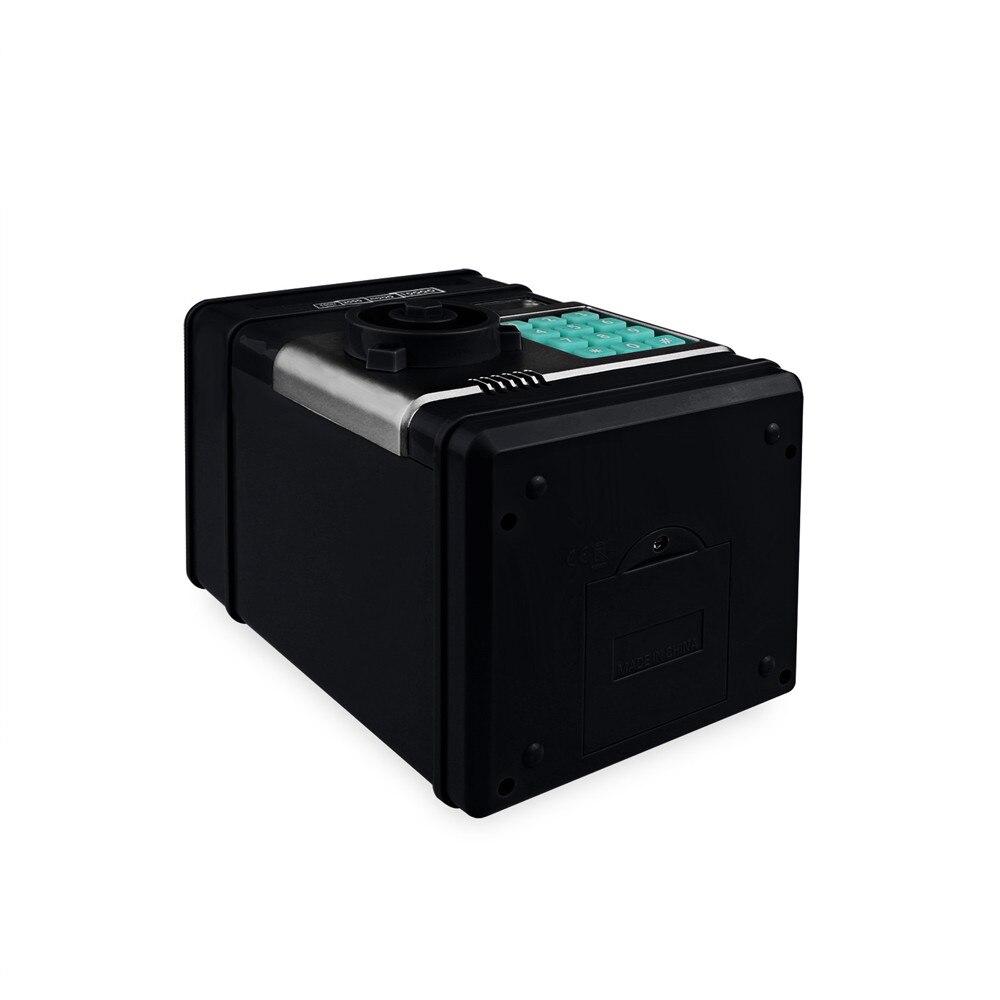 Electronic Piggy Bank ATM Password Money Box Cash Coins Saving Box ATM Bank Safe Box Automatic Deposit Banknote Christmas Gift 14