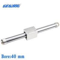CY1B40 400 SMC тип магнитно соединенный бесщеточный цилиндр/базовый диаметр 40 мм ход 400 мм Пневматический воздушный цилиндр из алюминиевого сплав