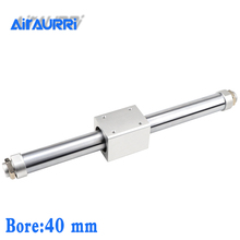 CY1B40-400 SMC type Magnetically Coupled Rodless Cylinder/ Basic bore 40mm stroke 400mm aluminum alloy pneumatic air cylinder cy1s 40mm bore air slide type cylinder pneumatic magnetically smc type compress air parts coupled rodless cylinder parts sanmin