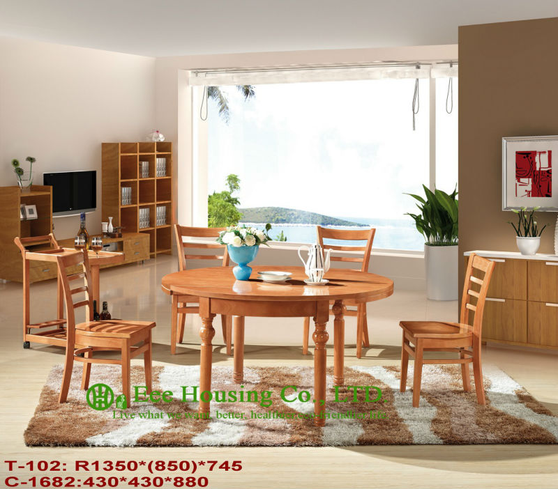 T-102,C-1682    Luxurious Solid Dining Chair,Solid Wood Dinning Table Furniture With Chairs/Home Furniture