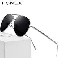 Чистый Титан поляризованных солнцезащитных очков Для мужчин складной Классический авиации солнцезащитные очки для Для мужчин 2018 Новый Aviador высокое качество мужской оттенки