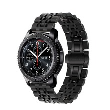 Stainless steel strap for Samsung galaxy watch 46mm /Gear S3 Frontier/Classic R760/R770 Huami band bracelet wrist belt quick release silicone rubber watchband 22mm for samsung gear s3 r760 r770 galaxy watch 46mm r800 feather grain band wrist strap