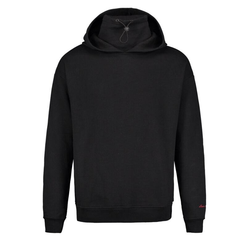 cotton solid color hooded hoodie men velvet long loose sweatshirts mens autumn winter 2019 hip hop fashionable streetwear in Hoodies amp Sweatshirts from Men 39 s Clothing