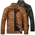 Fashion Autumn Winter Man Cool Stylish Motocycle Fleece Thick Warm Jacket , Male Pu Leather XXXL Slim Jackets , Coat For Man
