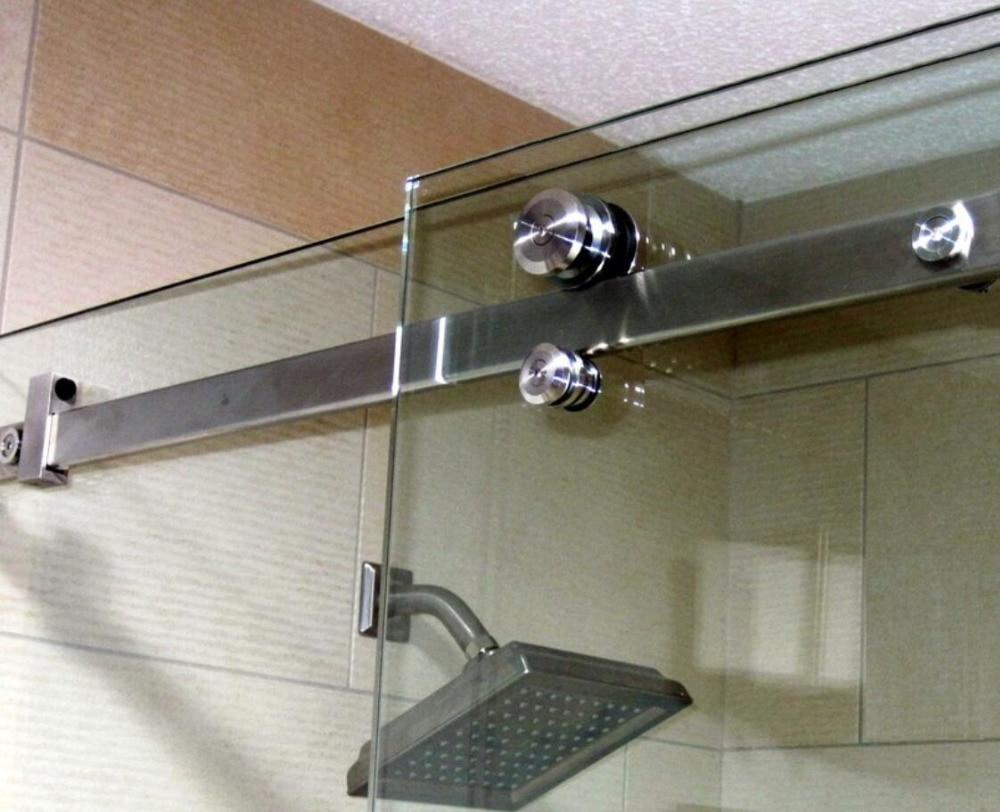 Diyhd 152cm 200cm Flat In Line Bar Sliding Shower Door