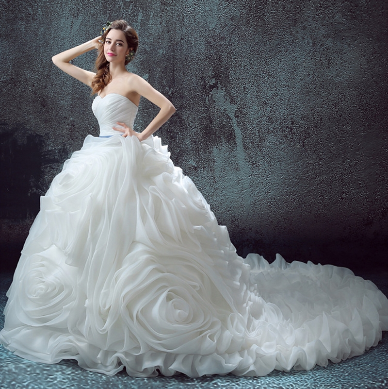 Luxurious Ruffles Dress for Wedding Party Expensive Bridal Gowns robe de mariage vestido de noiva curto 2019 Customize
