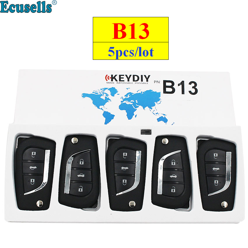 5pcs lot KEYDIY B series B13 3 button universal KD remote control for KD200 KD900 KD900