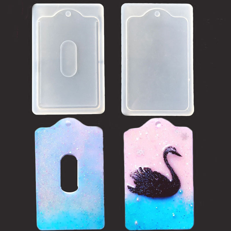 Pendant Casting Crystal Molds Epoxy Clear Silicone Resin Liquid Mold DIY Jewelry Making Tool For Card ID Holders Case Hand Craft