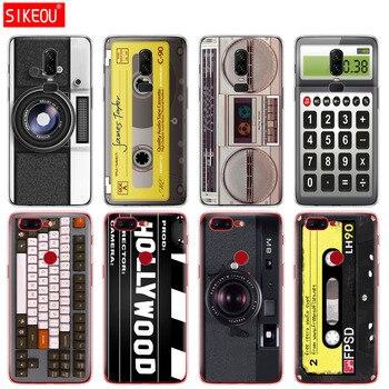 De silicona cubierta del teléfono para el Oneplus one plus 6 5T 5 3 A3000 A5000 cintas de Cassette radio teclado