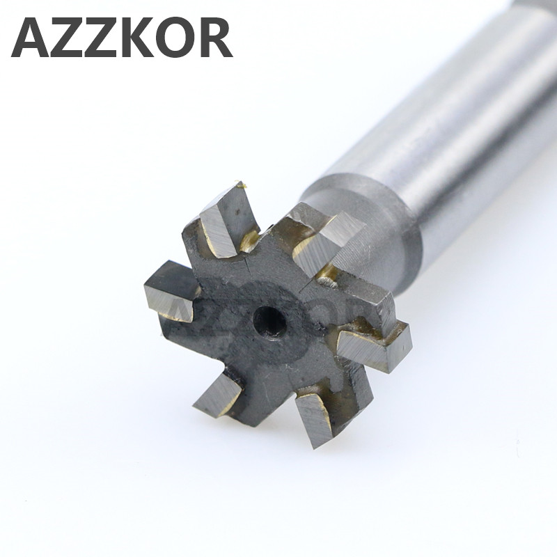Welded YG8 Alloy T-Slot Milling Cutter Tungsten Steel Rough Inserted Straight Shank For Hardness Metal Keyway Endmills Tool