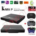 KM8 P TV Box Android 6.0 Amlogic S912 Octa Core H.265 4K 1GB/8GB WiFi Kodi 17.0 1080P IPTV KM8P Media Player i8 Keyboard Backlit