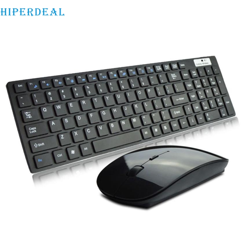 Good Sale High Quality Ultra thin 2.4G Cordless Wireless Keyboard and Optical Mouse Set Mar 7