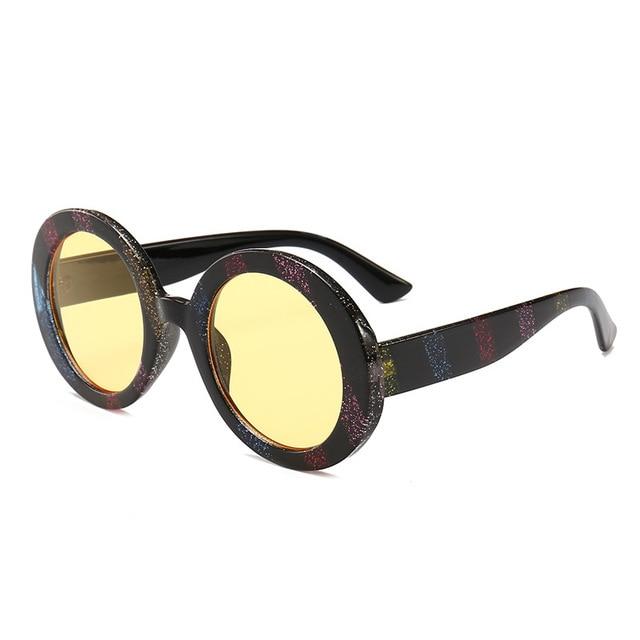 943c78c211 Colorido redondo diamantes marco gafas de sol mujer de lujo marca diseñador  lente Multicolor gafas de
