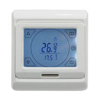 AC220V 16A Touch Screen Programable Thermostat Floor Heating Thermostat With External NTC Thermistor Sensor