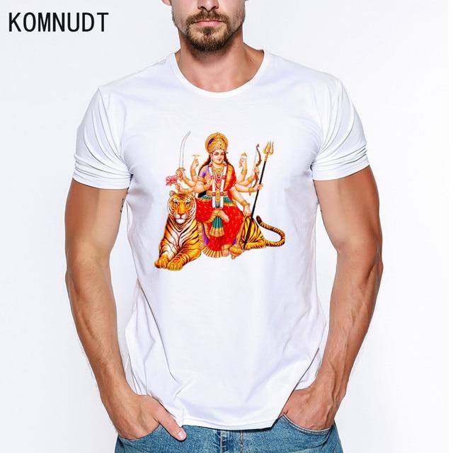 KOMNUDT Harajuku male t-shirts Goddess Durga Maa print 3D t shirt Men  clothing men s da27c40de