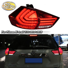 Car styling Tail Lights For Nissan X-trail Xtrail 2014-2019 Led Tail Light Fog lamp Rear Lamp DRL + Brake + Park + Signal lights все цены