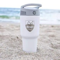 Portable Mini Air Conditioner Airwirl Cool Soothing Wind Personal Cooling And Herting System 2 In 1 Colder Warm Fan