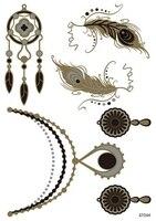 1pcs Fake Necklace Jewelry Metallic Temporary Tattoo Gold Flash Tattoo Women Skin Maker tatuagem metalica